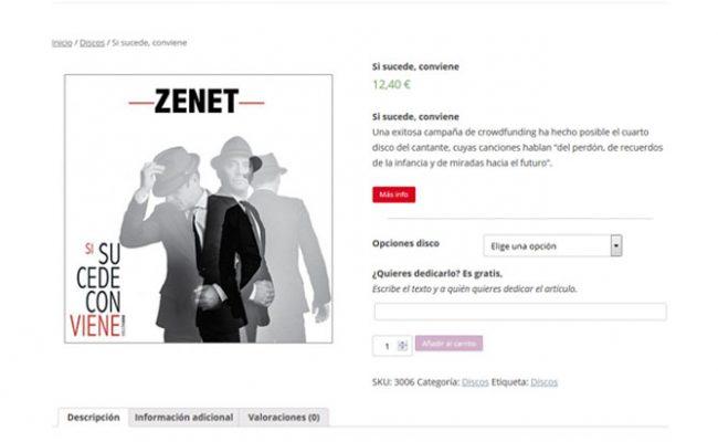 Factoría Zenet. Tienda personalizada.